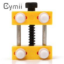 Cymii Adjustable Plastic Watch Straps Case Back Opener Watch for Band Repair Remover Holder Watchmaker Watch Repair Tool Kits(China)