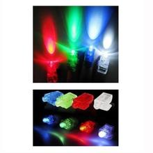 100 PCS Finger Light Up Ring LED Rave Party Favors Glow Beams christmas decorations for home Free Shipping