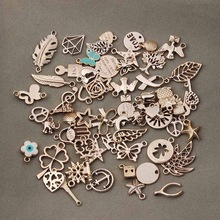 50pcs/lot Mixed Rose Gold Color Metal Floating Charms Handmade DIY European Charm for Bracelets & pendants Jewelry Making F2996