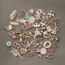 50pcs/lot Mixed Rose Gold Color Metal Floating Charms Handmade DIY European Charm for Bracelets & pendants Jewelry Making F2996(China)