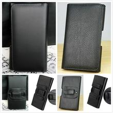 New Smooth pattern/Lichee Pattern PU Leather Phone Belt Clip For Philips Xenium E560 Cell Phone Pouch Cases