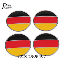 56.5mm Arc Surface Hub Caps For German Germany Flag Logo Sticker Emblem Wheel Center For Opel Porsche Skoda Subaru Suzuki Toyota