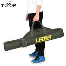 LEO 100cm/150cm Fishing Bags Portable Folding Fishing Rod Carrier Canvas Fishing Pole Tools Storage Bag Case Fishing Gear Tackle