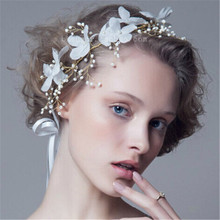 New 2015 bridal floral flower headpieces wedding fabric hairband headband for bride party prom hair jewelry accessories 1pc
