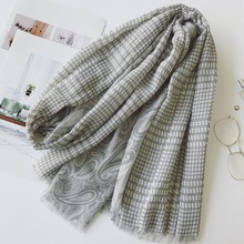 NEW 180*90 CM Fashion Elegant Women's Houndstooth pattern cotton Retro scarf large warm Ladies travel shawl Muslim headscarf