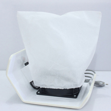 Brand New Non-woven 2pcs Nail Art Dust Suction Collector Durable White Pouch Durable Replacement Bags Small Bag(China)