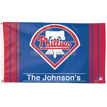 Philadelphia Phillies Personalized Fan Flag 3' x 5'(China)