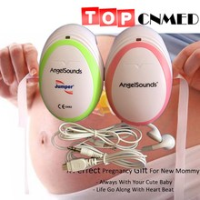 TOPCNMED **CE FDA Mini AngelSounds Fetal Doppler Pocket Ultrasound Prenatal Fetal Detector Portable Baby Heart Rate Monitor