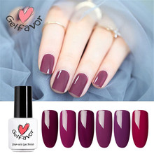 Gelfavor Soak-Off UV LED Classic Purple Red Bottle White & Brush Comestic Long-lasting Nail Lacquer Primer Gel Nail Gel Varnish(China)