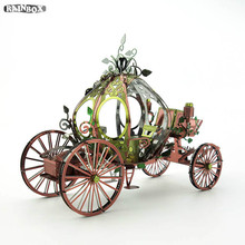 3D Metallic Puzzles Finger Rock Hand DIY Assemble Mass Effect Pumpkin Carriage Kits Model Toys Kid Gift WJ296