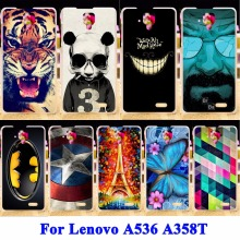 Mobile Phone Skin Case Cover For Lenovo A536 A358T A 536 Housing Covers Captain American Hard Plastic Shield Cases Skin Shells