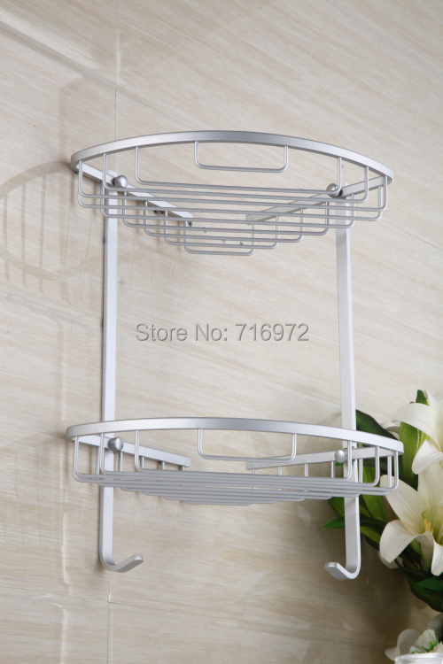 Free Shipping Wall Mounted Space Aluminium Corner Bathroom Shelf,Corner Shelf for Bathroom, Bathroom Accessories-Wholesale-2515<br><br>Aliexpress