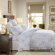 GGGGGO HOME,5 STARS HOTEL BEDDING SET 100% COTTON KING/QUEEN 4PCS DUVET COVER SET/BED SET