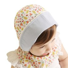 2017 New Summer Newborn Baby Girls Kids Fruit Pattern Princess Infant Cap Cotton Lovely Sun Hat M2