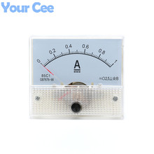 1 pc New 85c1 Current Monitoring 0~1A Analog DC AMP Panel Meter Class 2.5 Pointer Ampere Gauge