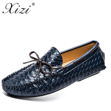 XIZI brand men Casusl sneakers shoes breathable comfortable Male PU leather loafers luxury men's flats men casual zanotti shoes(China)