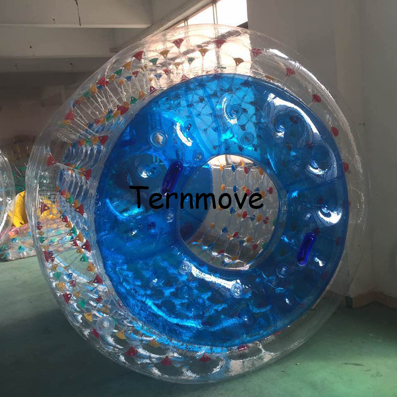 Inflatable Water Roller Wheel Free Shipping Clear Color Inflatable Roller Ball On Water Ball Infaltable Water Roll For Kids (4)