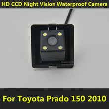 Car CCD Night Vision Reverse Backup Parking Assistance Waterproof Reversing Rearview Rear View Camera For Toyota Prado 150 2010(China)