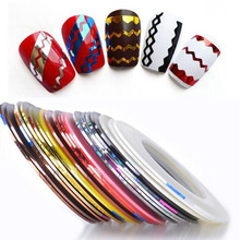 30 Colors Rolls Striping DIY Tape Line Nail Art Sticker Tools Beauty Decorations for on Printing nail polish Stickers sweet tren