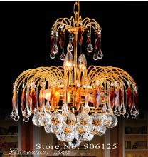 Gold Crystal Chandelier Light Fixture 15.7 Inches Mini Crystal Chandelier Light Lighting Guaranteed 100%+Free shipping!(China)