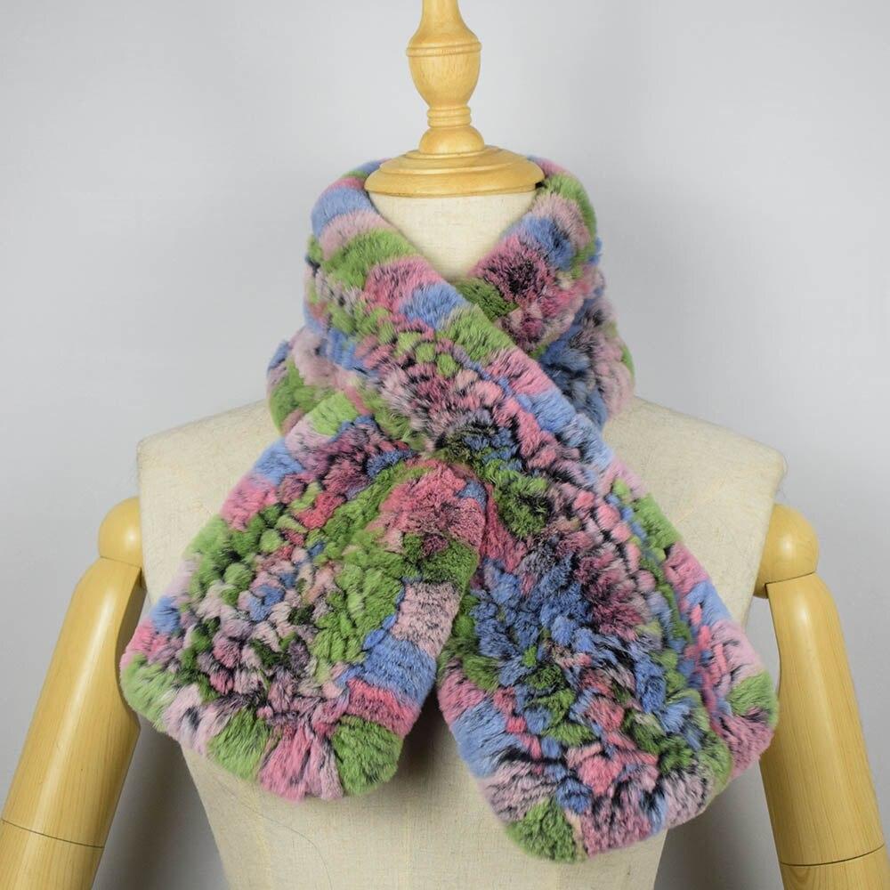 rex rabbit fur scarf short 15