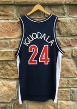 Andre Iguodala #24 Arizona Blue Retro Throwback Stitched Basketball Jersey Sewn Camisa Embroidery Logos