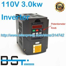 AC 110V to 220V Inverter 3.0kw Variable Frequency Driver 110V input / 220V Output 3kw Inverter with Potentiometer Knob