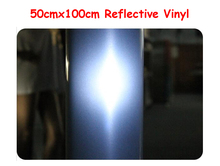 High Quality 50cmx100cm Reflective Light Heat Transfer Vinyl by Heat Press Cutting Plotter T-shirt Print(China)