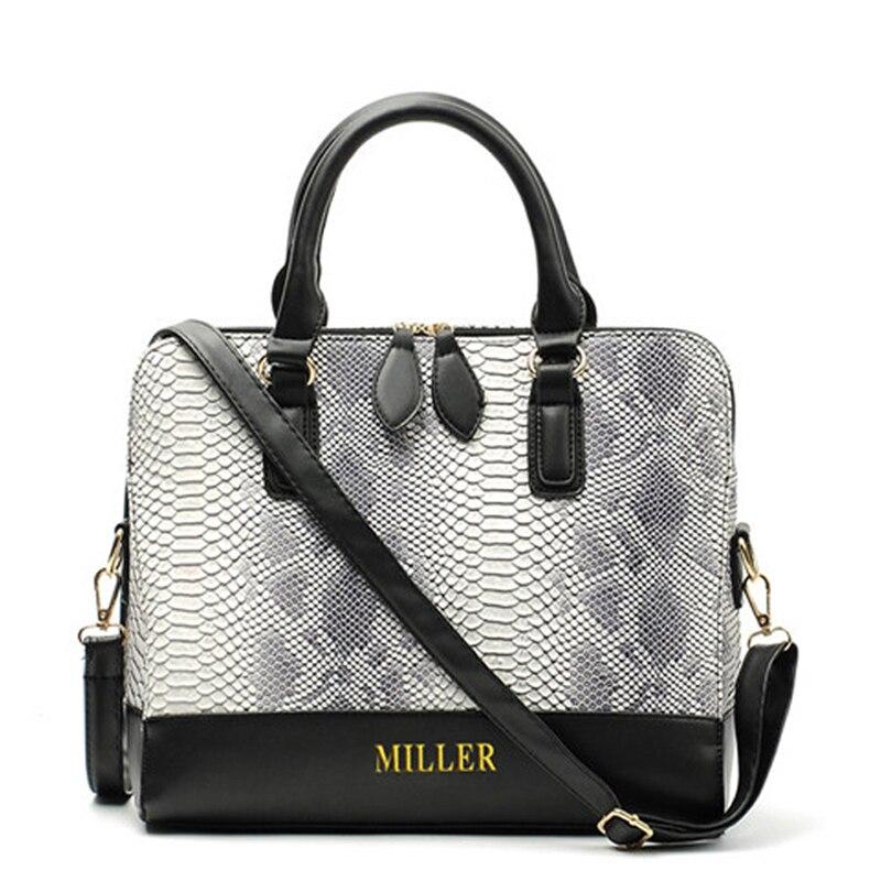 Bolsos Carteras Mujer Marca Womens Leather Bag Womens Skin Shoulder Messenger Bags Fashion Serpentine Female Crossbody Handbag<br><br>Aliexpress