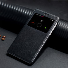 Free Temperd glass! Genuine flip Leather Case For huawei honor 6x Case with Window back cover phone bags luxury Brand design