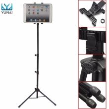 YUNAI Universal 7-10inch Adjustable Tablet Tripod Mount Holder Stand For iPad 2 3 4 Air Mini New Tablet Stand Holder For Samsung(China)