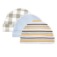 3pcs/lot Newborn Baby Hats & Caps USA Luvable Friends Floral Plaid Baby Accessories for 0-3 Months(China)