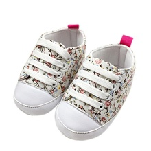 shoes baby 2016 kids canvas shoes Soft Soled Anti-slip Floral baby shoes girls kids first walkers baby booties bebes nice LD(China)