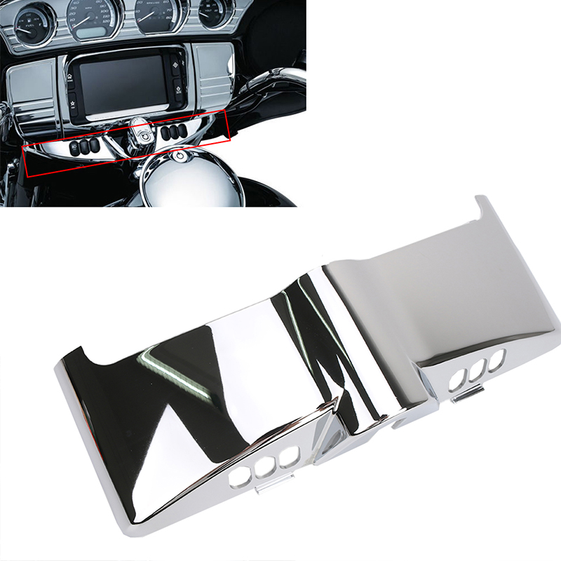 1x Chrome Inner Fairing Cap Cover For Harley Davidson Touring FLHT FLHR FLHX FLHTCU 2014 2015 2016 Motorcycle Accessories C/5<br>