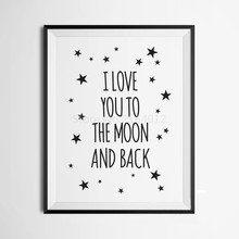 Love Quote Art Modern Wall Painting Black And White Painting On Canvas Poster Wall Pictures For Child Room Decoration Wall Decor