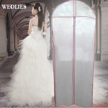 Storage Bag Bridal Wedding Dress Gown Garment Clothes Organization Case Party Evening Protector Cover Boutique 155x60cm(China)