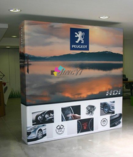 Portable 3X3 POP up Banner 8ft POPup Display Stand with End Cap(China)