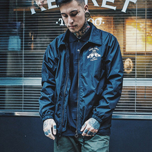 2017 West Coast Flight Jacket Pilot Air Force Men Bomber Jacket American Style oldschool Turndown Collar Man Coach coatSMC0805-5