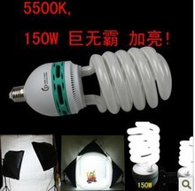 Powerful e27 5500k cfl photography 150w Half Spiral CFL Light Bulbs 5 pcs a lot 5500k photography light super bright CD50(China)