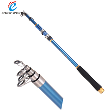 2.1M 6.89FT Portable Telescopic Fishing Rods Carbon Fiber Spinning Rod Sea Rock Fishing Travel Pole(China)