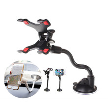 Universal 360 Degree Rotating Long Arm Windshield mobile phone Car Mount Bracket Holder Stand for Cellphone GPS MP4 PDA