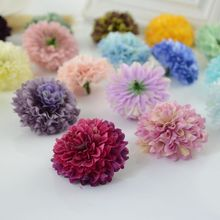 1pcs cheap Silk Carnation Heads artificial flower for home daisy Bridal bouquet wrist accessories Wedding car Decoration(China)