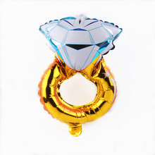 XXPWJ Free shipping 1pcs new high-quality children's toys mini diamond aluminum balloons birthday party balloon decoration B-011