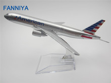 16cm Alloy Metal Air American AA Airlines Boeing 777 B777 Airways Plane Model Aircraft Airplane Model w Stand  Gift