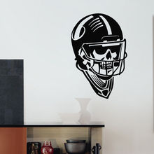 G242 Rugby American Football Gym Sport Skull Creative Wall Decal Vinyl Sticker Home Decor Boy's Room Decoration