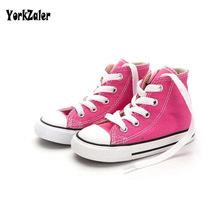 Buy Yorkzaler Children's Canvas Shoes Girl Boys 2018 Fashion Flat Classic kids Sport Shoes Toddler Baby Black Red Casual Sneaker for $10.71 in AliExpress store