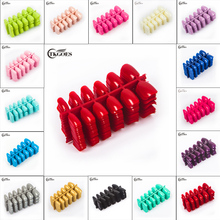 TKGOES 600pcs/pack Fashion Full Cover Artificial False ABS Fake Nail Tips For 3D Nail Art Decorations Nail Care Salon Tips Tools