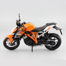 1:12 Scale children's KTM 1290 Super Adventure diecast motor bike race miniature collectible motorcycle models gifts for kid toy(China)