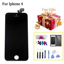 Wholesale 2pcs Touch Screen LCDs For iPhone 4 LCD Display Digitizer Assembly Replacement Phone Parts Repair For Iphone4
