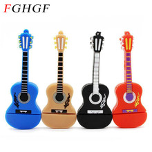 FGHGF Fashion new Musical Instrument Guitar Usb Flash Drive Usb Memory Stick 8GB 16GB Flash Memory Stick Pen Drive usb Disk(China)